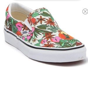 Vans tropical pattern classic slip on-toddler 12